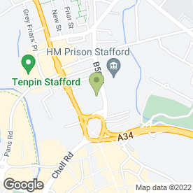 Map of Jackson Brown in Stafford, staffordshire