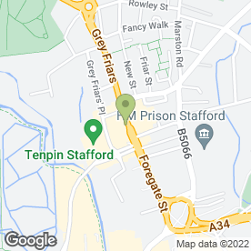 Map of Halfords in Stafford, staffordshire