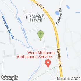 Map of New England Kitchens & Bedrooms in Tollgate Drive, Stafford, staffordshire