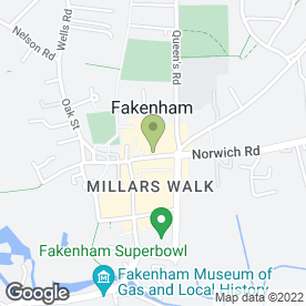 Map of Norfolk Kebab House Takeaway in Fakenham, norfolk