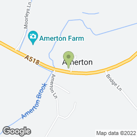 Map of Amerton Pottery in Amerton, Stafford, staffordshire