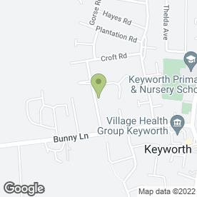Map of South Notts Dog Grooming in Keyworth, Nottingham, nottinghamshire