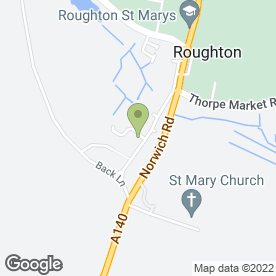 Map of P.L Storey in Roughton, Norwich, norfolk