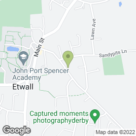Map of P J Interiors in Etwall, Derby, derbyshire