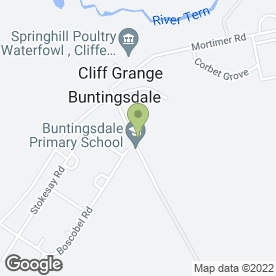 Map of Buntingsdale Infants School in Buntingsdale, Market Drayton, shropshire