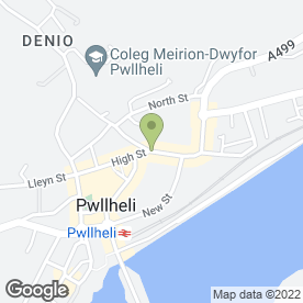 Map of Griffith, Williams & Co in Pwllheli, gwynedd