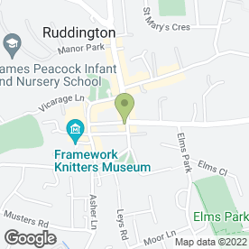 Map of Classic Cuts in Ruddington, Nottingham, nottinghamshire