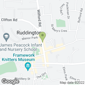 Map of SOUTH NOTTS WINDOWS & CONSERVATORIES in Ruddington, Nottingham, nottinghamshire
