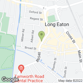 Map of Nicola Claire Hair & Beauty Emporium in Long Eaton, Nottingham, nottinghamshire