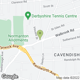 Map of Cavendish Electrical in Derby, derbyshire