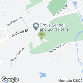 Map of The Grove School in Market Drayton, shropshire