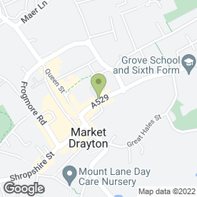 Map of The Tern Veterinary Group in Market Drayton, shropshire