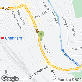 Map of David Holland Funeral Directors in Grantham, lincolnshire