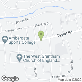 Map of The Co-operative Food in Grantham, lincolnshire