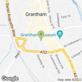 Map of Greggs in Grantham, lincolnshire