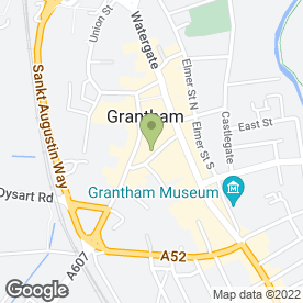 Map of Grantham Health Store in Grantham, lincolnshire