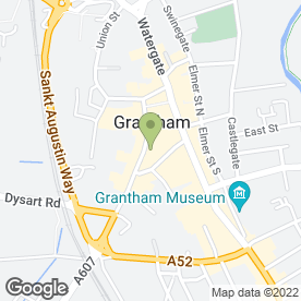 Map of Panini in Grantham, lincolnshire