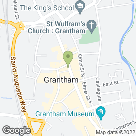 Map of Newton Fallowell in Grantham, lincolnshire