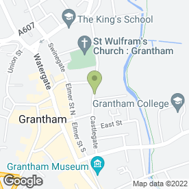 Map of Conservative Club in Grantham, lincolnshire