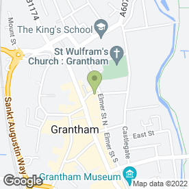 Map of Drs Higgins, Hargreaves, Patel & Baker in Grantham, lincolnshire
