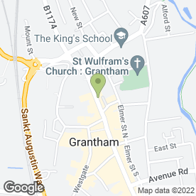 Map of Grantham Charcoal Grill in Grantham, lincolnshire