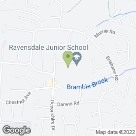 Map of Ravensdale Junior School in Mickleover, Derby, derbyshire