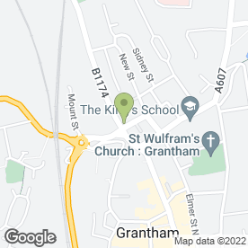 Map of Living Health in Grantham, lincolnshire