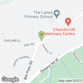 Map of Yessensis in Chilwell, Nottingham, nottinghamshire