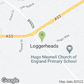 Map of Shires Veterinary Practice in Loggerheads, Market Drayton, shropshire