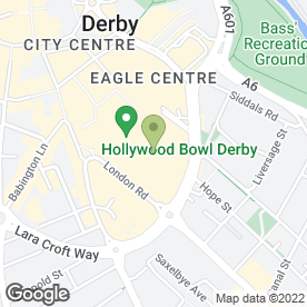 Map of Showcase Cinema De Lux in Derby, derbyshire