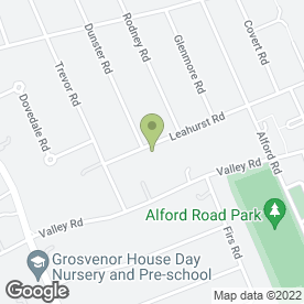Map of Leahurst Road Pre-School in West Bridgford, Nottingham, nottinghamshire