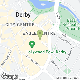 Map of Greggs in Derby, derbyshire