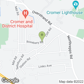 Map of Anytime Taxis in Cromer, norfolk