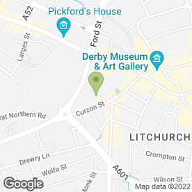 Map of Moonsha in Derby, derbyshire