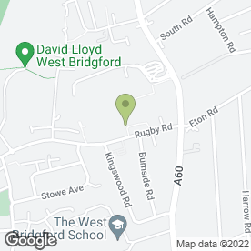 Map of Frank Rhinds School of Martial Arts in West Bridgford, Nottingham, nottinghamshire