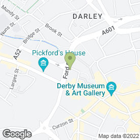 Map of Wedding Car Hire Derby in Derby, derbyshire