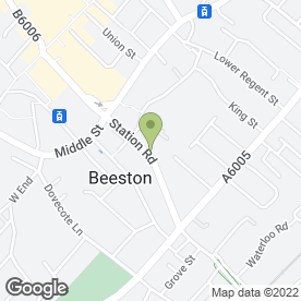 Map of Warrior Martial Arts in Beeston, Nottingham, nottinghamshire