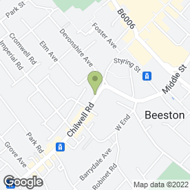 Map of Effortless Beauty in Beeston, Nottingham, nottinghamshire