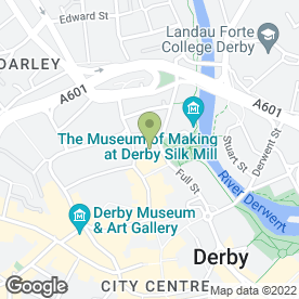 Map of Cordius Ltd in Derby, derbyshire
