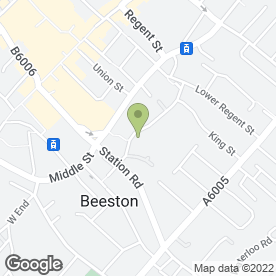 Map of CHURCH HOUSE NURSERY in Beeston, Nottingham, nottinghamshire