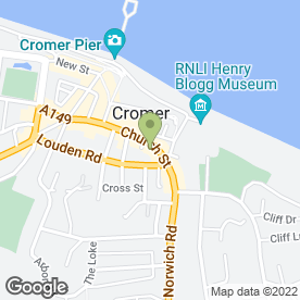 Map of Watsons in Cromer, norfolk