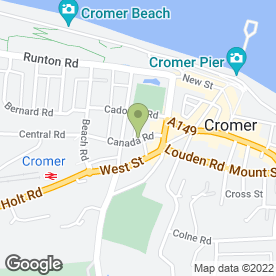 Map of Fox's Funeral Services in Cromer, norfolk