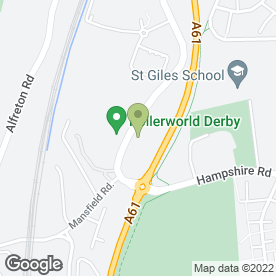 Map of B.E.Webbe Removals & Storage in Derby, derbyshire