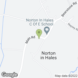 Map of Norton-in-Hales C of E School in Norton-in-Hales, Market Drayton, shropshire