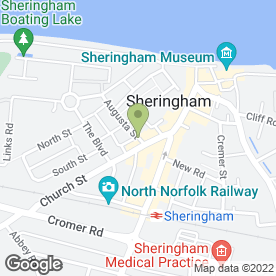 Map of QualitySolicitors Clapham & Collinge in Sheringham, norfolk