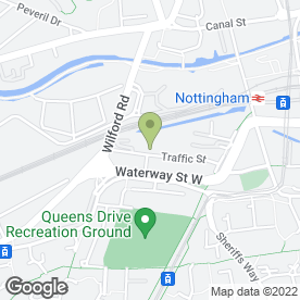 Map of Enterprise Rent-A-Car in Nottingham, nottinghamshire
