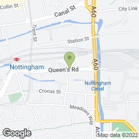 Map of East Mids Hire Ltd in Nottingham, nottinghamshire