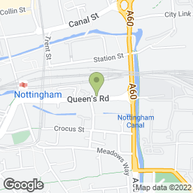 Map of Access Self Storage in Nottingham, nottinghamshire