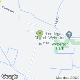 Map of M Fixter in Wyberton, Boston, lincolnshire