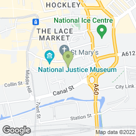 Map of The Cookie Club in Nottingham, nottinghamshire